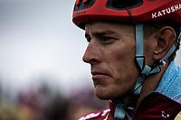 Nils Politt (GER/Katusha Alpecin) after finishing on top of the Foix Prat d'Albis. <br /> <br /> Stage 15: Limoux to Foix Prat d'Albis (185km)<br /> 106th Tour de France 2019 (2.UWT)<br /> <br /> ©kramon