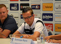20150821 - GENT, BELGIUM: Gent's head coach Frederic Claeys pictured during a press conference about the start of the new Super League season of the women's team KAA Gent Ladies , Friday 21 August 2015 , in Gent. PHOTO DAVID CATRY