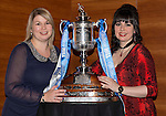 St Johnstone FC Scottish Cup Celebration Dinner at Perth Concert Hall...01.02.15<br /> Hayley Thomson and Beverley Mayer<br /> Picture by Graeme Hart.<br /> Copyright Perthshire Picture Agency<br /> Tel: 01738 623350  Mobile: 07990 594431