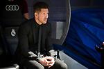 Atletico de Madrid's coach Diego Pablo Simeone during La Liga match between Real Madrid and Atletico de Madrid at Santiago Bernabeu Stadium in Madrid, April 08, 2017. Spain.<br /> (ALTERPHOTOS/BorjaB.Hojas)