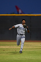AZL Padres 1 right fielder Joshua Mears (48) prepares to catch a fly ball during an Arizona League game against the AZL Indians Red on June 23, 2019 at the Cleveland Indians Training Complex in Goodyear, Arizona. AZL Indians Red defeated the AZL Padres 1 3-2. (Zachary Lucy/Four Seam Images)