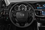 Car pictures of steering wheel view of a 2017 Honda Accord EX-L 4 Door Sedan Steering Wheel