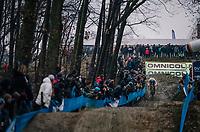 race leader VAN DER POEL Mathieu (NED/Corendon-Circus) coming down the dirt jump section<br /> <br /> GP Sven Nys (BEL) 2019<br /> DVV Trofee<br /> ©kramon