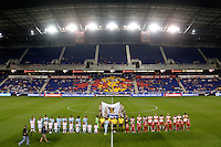 Harrison, NJ - Thursday Sept. 15, 2016: Alianza FC, New York Red Bulls before a CONCACAF Champions League match between the New York Red Bulls and Alianza FC at Red Bull Arena.