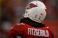 Nov. 6, 2005; Tempe, AZ, USA; Wide receiver (11) Larry Fitzgerald of the Arizona Cardinals against the Seattle Seahawks at Sun Devil Stadium. Mandatory Credit: Mark J. Rebilas