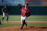 Hickory Crawdads relief pitcher Nick Snyder (25) in action against the Greensboro Grasshoppers against the Greensboro Grasshoppers at L.P. Frans Stadium on May 26, 2019 in Hickory, North Carolina. The Crawdads defeated the Grasshoppers 10-8. (Brian Westerholt/Four Seam Images)