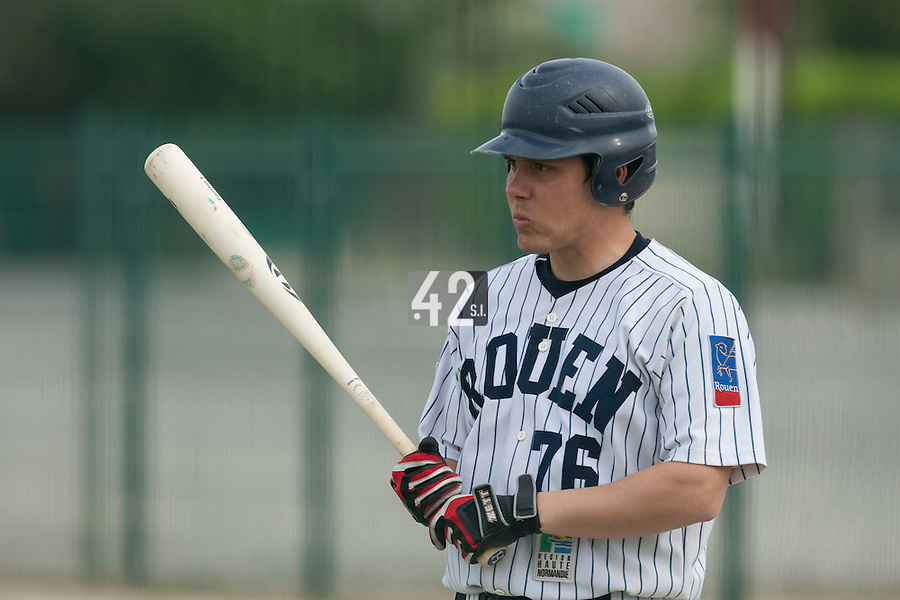21 May 2009: Boris Marche of Rouen is seen at bat during the 2009 challenge de France, a tournament with the best French baseball teams - all eight elite league clubs - to determine a spot in the European Cup next year, at Montpellier, France.