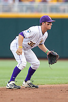 LSU Tigers shortstop Alex Bregman #30 fields during Game 4 of the 2013 Men's College World Series between the LSU Tigers and UCLA Bruins at TD Ameritrade Park on June 16, 2013 in Omaha, Nebraska. The Bruins defeated the Tigers 2-1. (Brace Hemmelgarn/Four Seam Images)