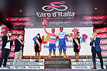 Race leader Joao Almeida (POR) Deceuninck-Quick Step retains the Maglia Rosa and leading team at the end of Stage 8 of the 103rd edition of the Giro d'Italia 2020 running 200km from Giovinazzo to Vieste, Sicily, Italy. 10th October 2020.  <br /> Picture: LaPresse/Gian Mattia D'Alberto | Cyclefile<br /> <br /> All photos usage must carry mandatory copyright credit (© Cyclefile | LaPresse/Gian Mattia D'Alberto)