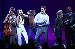 Samantah Barks, Andy Karl, Orfeh and Ezra Knight during the Curtain Call for the Garry Marshall Tribute Performance of 'Pretty Woman:The Musical' at the Nederlander Theatre on August 2, 2018 in New York City.