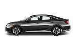 Car Driver side profile view of a 2018 Honda Civic LX 4 Door Sedan Side View