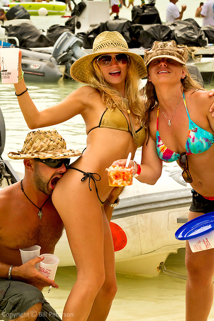 Stranded Naked cheesburger party on Fiddle Cay Bahamas
