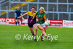 Andrea Murphy of Kerry having the jersey tested by Ciara Banville of Wexford in the Lidl LGFA National football league game in Fitzgerald Stadium Killarney on Sunday.