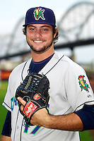 Cedar Rapids Kernels pitcher R.J. Alvarez #17 poses for a photo before a game against the Quad Cities River Bandits at Modern Woodmen Park on June 30, 2012 in Davenport, Illinois.  Quad Cities defeated Davenport 8-7.  (Mike Janes/Four Seam Images)