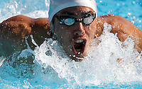 Trofeo Settecolli di nuoto al Foro Italico, Roma, 13 giugno 2013.<br /> Jordan Coelho, of France, competes in the men's 200 meters butterfly at the Sevenhills swimming trophy in Rome, 13 June 2013.<br /> UPDATE IMAGES PRESS/Isabella Bonotto