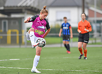 Aalst's Margaux Van Ackere pictured during a female soccer game between Club Brugge Dames YLA and Eendracht Aalst Ladies on the 9 th matchday of the 2020 - 2021 season of Belgian Scooore Womens Super League , saturday 12 December 2020  in Brugge , Belgium . PHOTO SPORTPIX.BE | SPP | DAVID CATRY