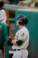 Brennon Lund (9) of the Salt Lake Bees during the game against the Tacoma Rainiers at Smith's Ballpark on May 27, 2019 in Salt Lake City, Utah. The Bees defeated the Rainiers 5-0. (Stephen Smith/Four Seam Images)