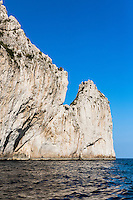 Waterfront rock cliff,  Isle of Capri, Italy