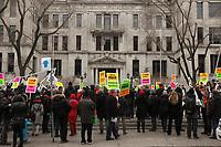 Comite de Solidarite avec les enseignants en greve, 2 Avril 2015.<br /> <br /> PHOTO : Agence Quebec Presse