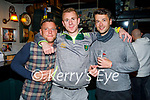 Enjoying the evening in Turners Bar on Sunday, l to r: Eoin and Darren Cane and Darragh Roche.