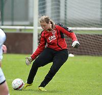 Finale Beker van West-Vlaanderen Vrouwen FC Knokke - SK Opex Girls Oostende :  Charlotte Vermeersch<br /> foto DAVID CATRY | Sportpix.be
