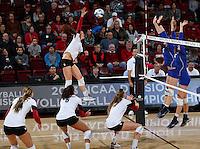 Stanford, CA; Thursday December 5, 2013: Women's Volleyball, Stanford vs Hampton.
