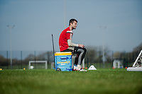 SWANSEA, WALES - APRIL 7 :  Lukasz Fabianski of Swansea City loos on during training on April 7, 2015 in Swansea, Wales. (photo by Athena Pictures)