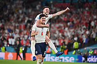7th July 2021, Wembley Stadium, London, England; 2020 European Football Championships (delayed) semi-final, England versus Denmark;  Celebration for reaching the final from England, with Harry MAGUIRE ENG and Declan RICE ENG