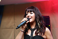 Pictured: Singer Shelley. Wednesday 10 April 2013<br /> Re: Swansea footballer Angel Rangel and wife Nicky's cancer charity fundraising dinner at the Liberty Stadium.
