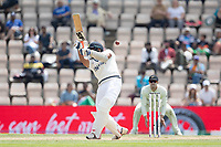 Mohammad Shami, India shows everything at the ball and collects for rums though third man during India vs New Zealand, ICC World Test Championship Final Cricket at The Hampshire Bowl on 23rd June 2021