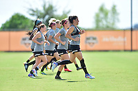 Houston, TX - Friday Oct. 07, 2016: Washington Spirit  during training prior to the National Women's Soccer League (NWSL) Championship match between the Washington Spirit and the Western New York Flash at Houston Sports Park.