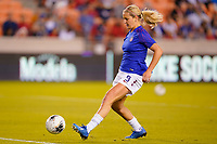 HOUSTON, TX - FEBRUARY 03: Lindsey Horan #9 of the United States warms up during a game between Costa Rica and USWNT at BBVA Stadium on February 03, 2020 in Houston, Texas.