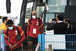 St Johnstone v Galatasaray…12.08.21  McDiarmid Park Europa League Qualifier<br />Ryan Babel gets off the Galatasary team coach after arriving at McDiarmid Park<br />Picture by Graeme Hart.<br />Copyright Perthshire Picture Agency<br />Tel: 01738 623350  Mobile: 07990 594431