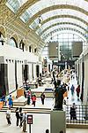 Europa, Frankreich, France, Paris, St-Germain-des-Pres, Musee d´Orsay, prunkvoller Bahnhof von Victor Laloux Museum Kunst, 10.09.2014<br /> <br /> ***HINWEIS BEZUEGLICH DER ABBILDUNG VON KUNSTWERKEN. RECHTE DRITTER SIND VOM NUTZER ZU KLAEREN***<br /> *** Zur Rechteklaerung siehe: http://www.bildkunst.de ***