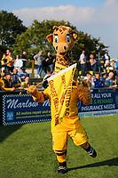 9th October 2021;  VBS Community Stadium, Sutton, London; EFL League 2 football, Sutton United versus Port Vale; Sutton United mascot dancing for the fans.