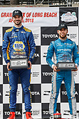 Alexander Rossi, Andretti Autosport Honda, Ed Jones, Chip Ganassi Racing Honda, podium