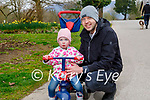 Little Erika Murphy with her dad Padraig enjoying a stroll in the Killarney National park on Sunday.