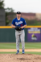 Rancho Cucamonga Quakes relief pitcher Wills Montgomerie (41) during a California League game against the Visalia Rawhide on April 8, 2019 in Visalia, California. Rancho Cucamonga defeated Visalia 4-1. (Zachary Lucy/Four Seam Images)