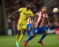 29th August 2021; Estadio Wanda Metropolitano, Madrid, Spain; La Liga Football, Atletico de Madrid versus Villarreal Club de Futbol; Boulaye Dia of Villarreal wins the header from Koke