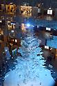 Christmas tree illumination in Kitte building in Marunouchi