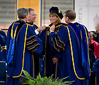 May 22, 2011; Jacqueline Novogratz receives an honorary degree at the 2011 Commencement ceremony...Photo by Matt Cashore/University of Notre Dame
