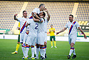 Fernando Ricksen Testimonial :   Fernando Ricksen is congratulated after he scored from the spot.