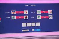 BOGOTA - COLOMBIA, 20-11-2020: Sorteo cuartos de final Liga Femenina BetPlay DIMAYOR 2020 en Bogotá. / Round of 8 draw of Women's League BetPlay DIMAYOR 2020 in Bogota city. Photo: VizzorImage / Daniel Garzon / Cont