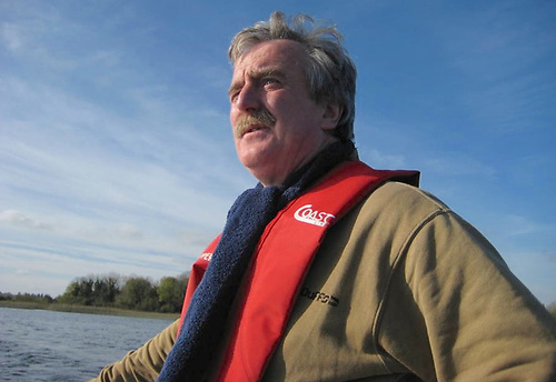Jimmy Fitzpatrick in his role as race officer for the Water Wags on Lough Boderg