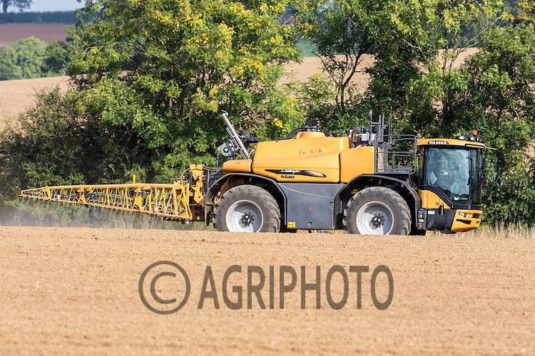 Spraying pre-emergent herbicides on Winter Wheat<br /> Picture Tim Scrivener 07850 303986