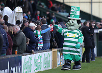 The Jolly Green Giant, Yeovil Town's mascot meets the fans ahead of kick-off during Yeovil Town vs Wycombe Wanderers, Coca Cola League Division One Football at Huish Park on 26th December 2009