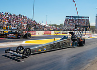 Sep 23, 2018; Madison, IL, USA; NHRA top fuel driver Tony Schumacher during the Midwest Nationals at Gateway Motorsports Park. Mandatory Credit: Mark J. Rebilas-USA TODAY Sports