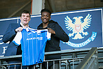 Matty Willock pictured at McDiarmid Park this afternoon with manager Tommy Wright after joining St Johnstone on loan from Manchester United….31.01.18<br />see story by Gordon Bannerman 07729 865788<br />Picture by Graeme Hart.<br />Copyright Perthshire Picture Agency<br />Tel: 01738 623350  Mobile: 07990 594431