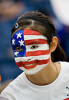 USA Fan.  Japan won the FIFA Women's World Cup on penalty kicks after tying the United States, 2-2, in extra time at FIFA Women's World Cup Stadium in Frankfurt Germany.