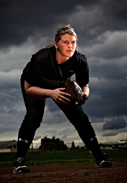 2010 Times' Tigard Athlete of the Year Chelsea Biglow. She was a volleyball, basketball, softball player at Tigard. Biglow is going to play college softball at Colorado State University..Photo by Jaime Valdez